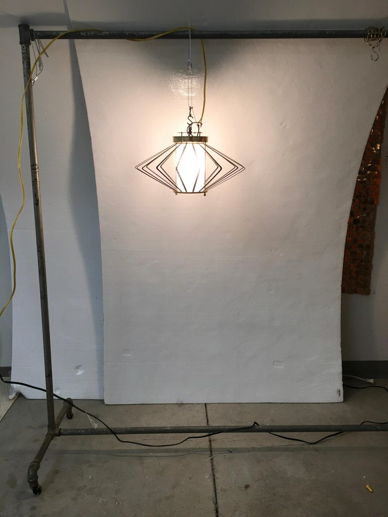 1950s Atomic Ceiling Mounted Light For Sale 10