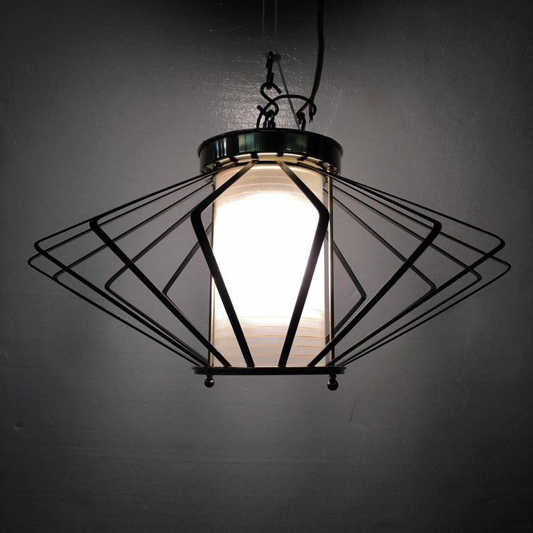 Mid-20th Century 1950s Atomic Ceiling Mounted Light For Sale