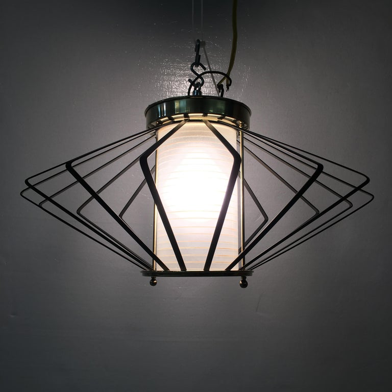 1950s Atomic Ceiling Mounted Light For Sale 1