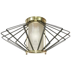 1950s Atomic Ceiling Mounted Light