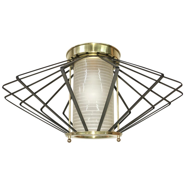 1950s Atomic Ceiling Mounted Light For Sale