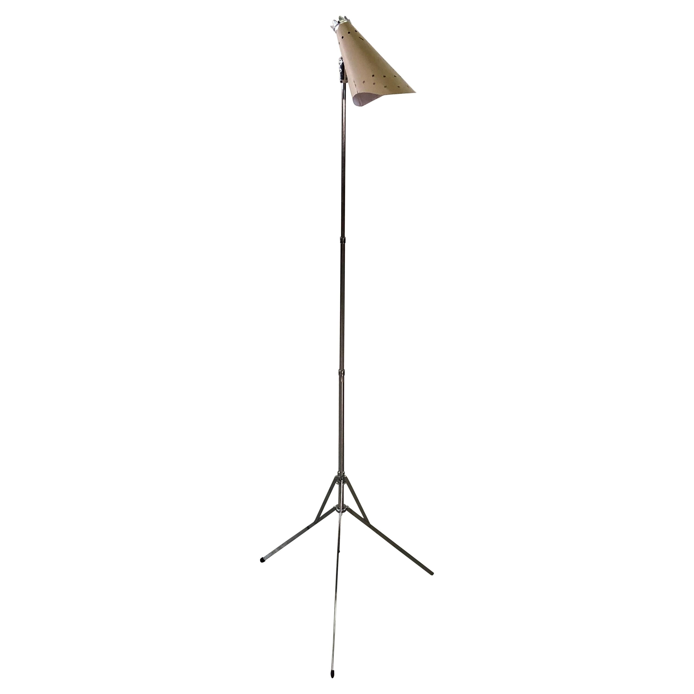 1950s Atomic Style Pink Metal Adjustable Floor Lamp