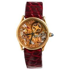 1950s Audemars Piguet Yellow Gold Skeleton Wristwatch
