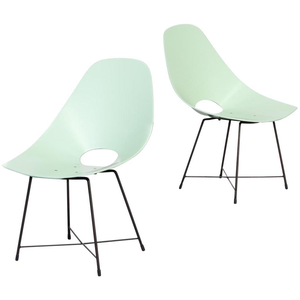 1950s Augusto Bozzi Chairs for Saporiti Set of 2
