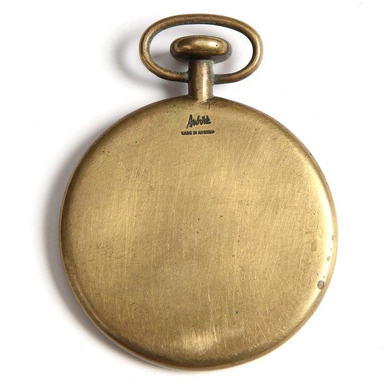 Mid-Century Modern 1950s Austrian Bronze Pocket Watch Paperweight by Carl Auböck For Sale
