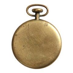 1950s Austrian Bronze Pocket Watch Paperweight by Carl Auböck