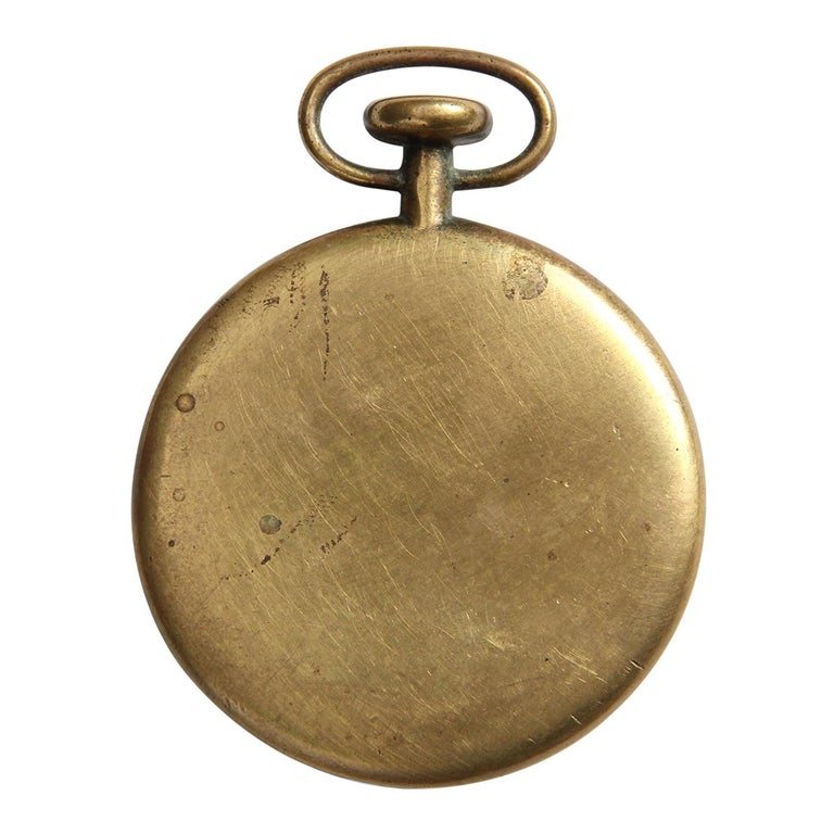 1950s Austrian Bronze Pocket Watch Paperweight by Carl Auböck For Sale
