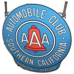 1950s Automobile Club Southern California AAA Contract Station DSP Sign