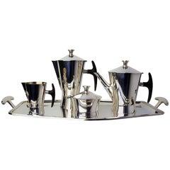 1950s Avant-Garde Silver Plated Coffee Tea Set