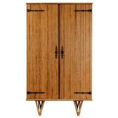 1950's Bamboo Cabinet/Wardrobe