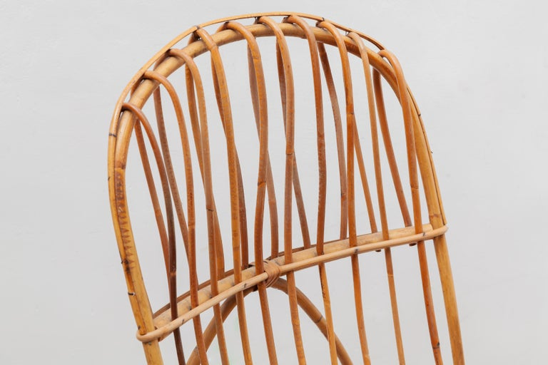 1950s Bamboo Rocking Chair, Italy In Good Condition For Sale In Antwerp, BE