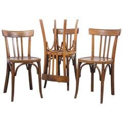 1950s Baumann Bentwood Bistro Dining Chair, Model 3, Set of Four