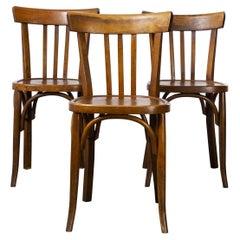 1950's Baumann Bentwood Bistro Dining Chair, Model 3, Set of Three