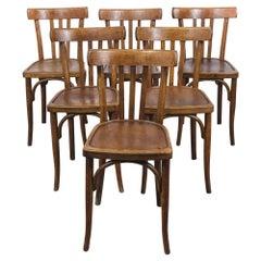 1950s Baumann Bentwood Bistro Dining Chair, Model 4, Set of Six