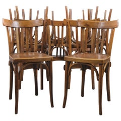 1950s Baumann Bentwood Bistro Dining Chair, Model 4, Set of Twelve