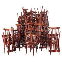 1950s Baumann Bentwood Bistro Dining Chair, Spice