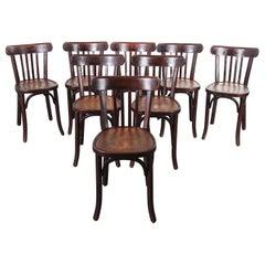 1950s Baumann Bentwood Bistro Dining Chair, Tonal, Set of Eight
