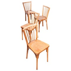 1950s Baumann Bistro Dining Chairs, Set of Four