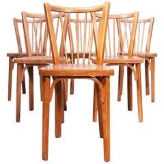 1950s Baumann Bistro Dining Chairs, Set of Six