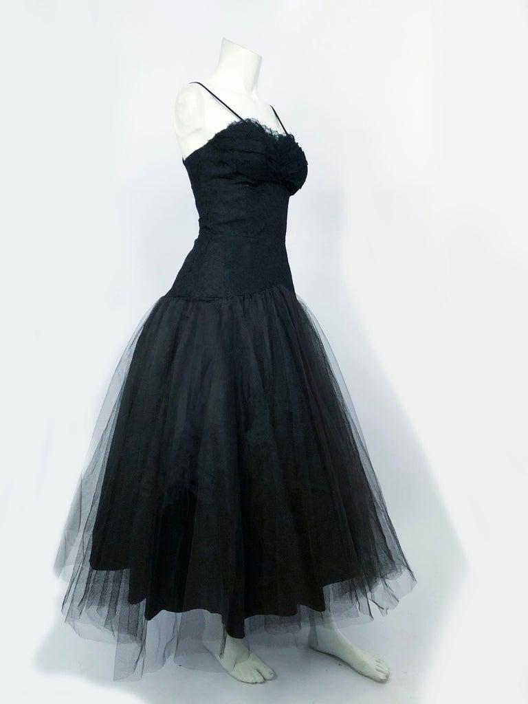 Women's 1950s Beaumelle Black Cocktail Dress For Sale