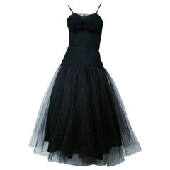 1950s Beaumelle Black Cocktail Dress