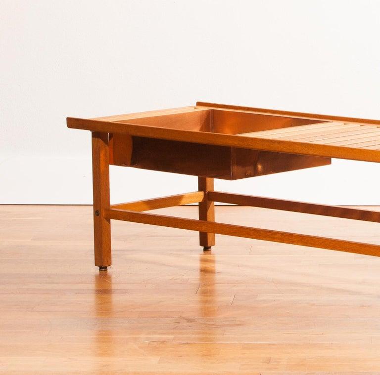 1950s, Plant Bench / Coffee Table by Yngve Ekström in Teak In Good Condition For Sale In Silvolde, Gelderland