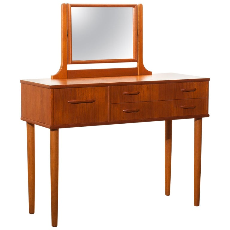 1950s Beautiful Teak Dressing Table By Ulferts Sweden For