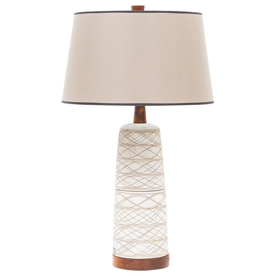 1950s Beige Table Lamp by Jane & Gordon Martz 'g'