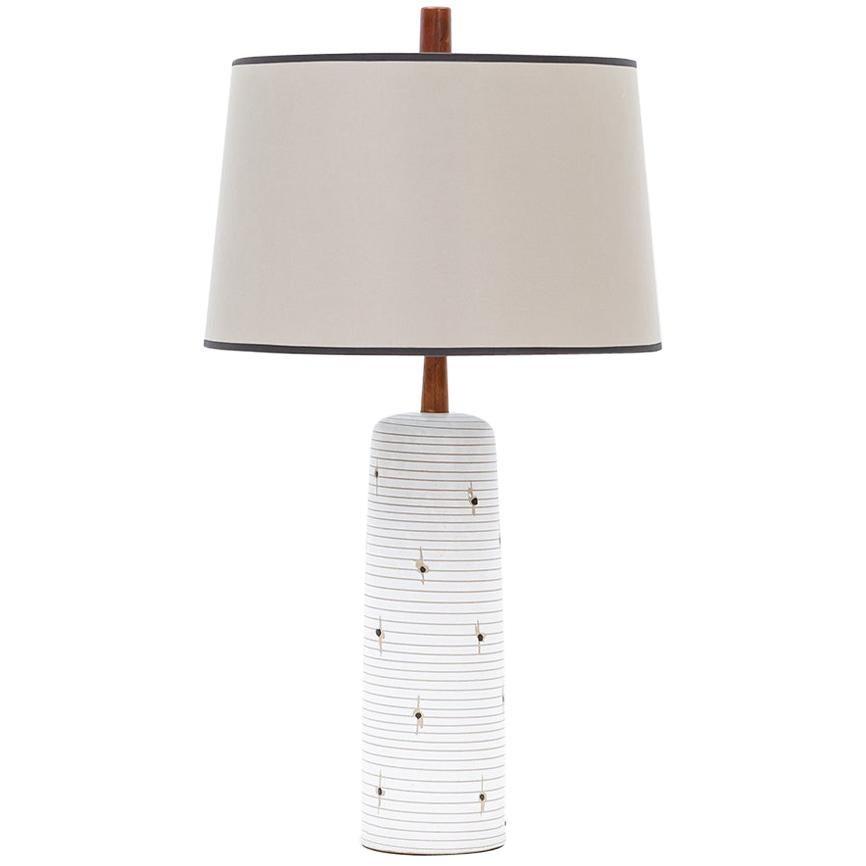 1950s Beige Table Lamp by Jane & Gordon Martz 'h'
