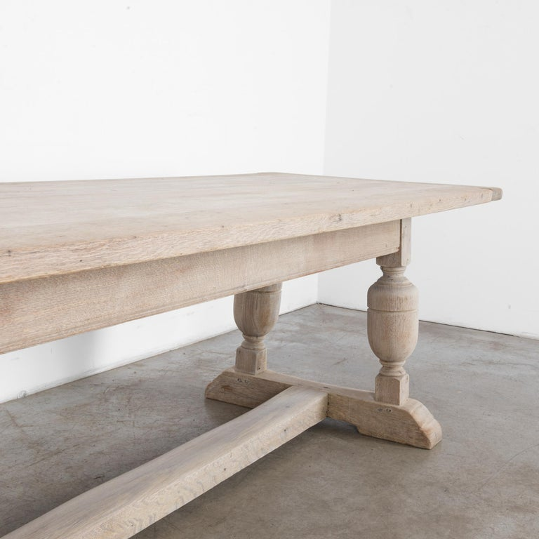 Mid-20th Century 1950s Belgian Bleached Oak Dining Table