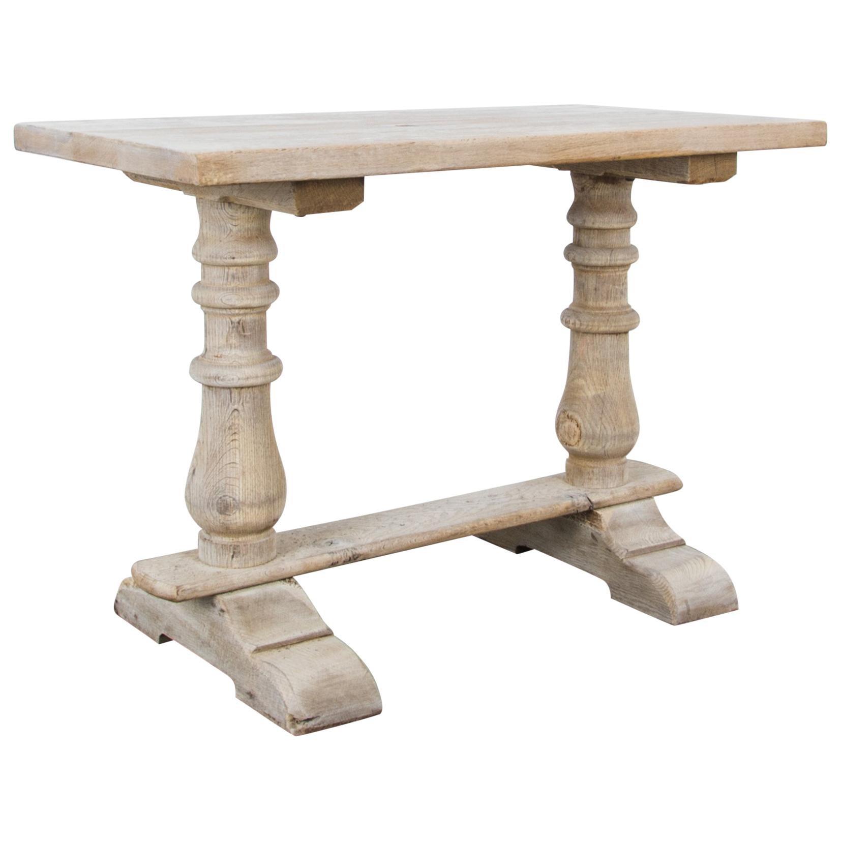 1950s Belgian Bleached Oak Table