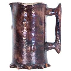1950s Belgian Bouffioulx Faux Bois Ceramic Mug
