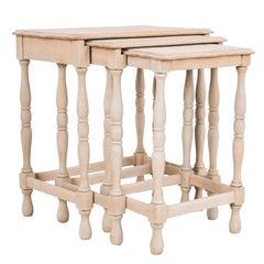 1950s Belgian Nesting Wooden Tables
