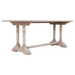1950s Belgian Oak Dining Table