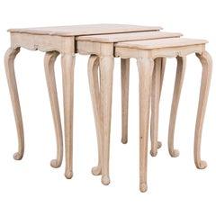 1950s Belgian Oak Nesting Tables