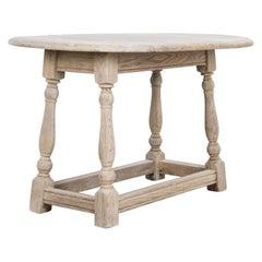 1950s Belgian Oak Side Table