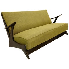 1950s Belgium Sofa in the Style of Alfred Hendrickx