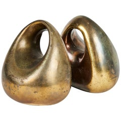 1950s Ben Seibel Bookends in Brass for Jenfred-Ware
