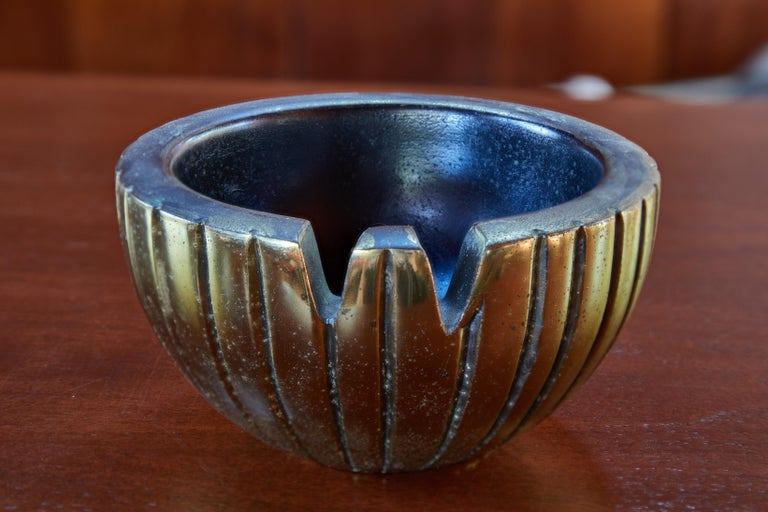 1950s Ben Seibel Brass Bowl or Ashtray for Jenfred-Ware In Good Condition For Sale In Glendale, CA