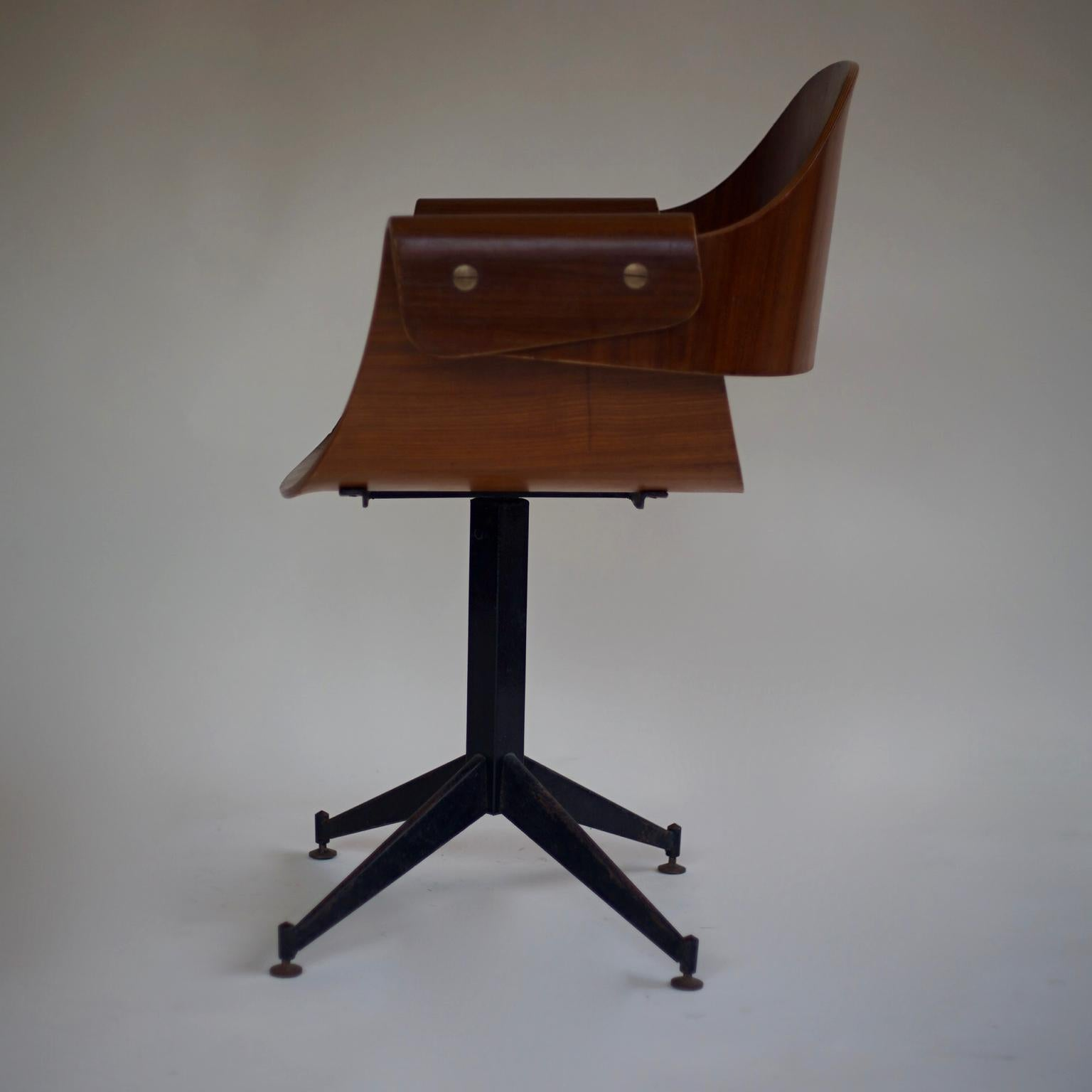 Fabulous 1950S Bent Ply Desk Chair By Carlo Ratti Italy For Sale At Uwap Interior Chair Design Uwaporg