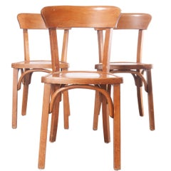 1950s Bentwood Bistro Dining Chairs, Set of Three