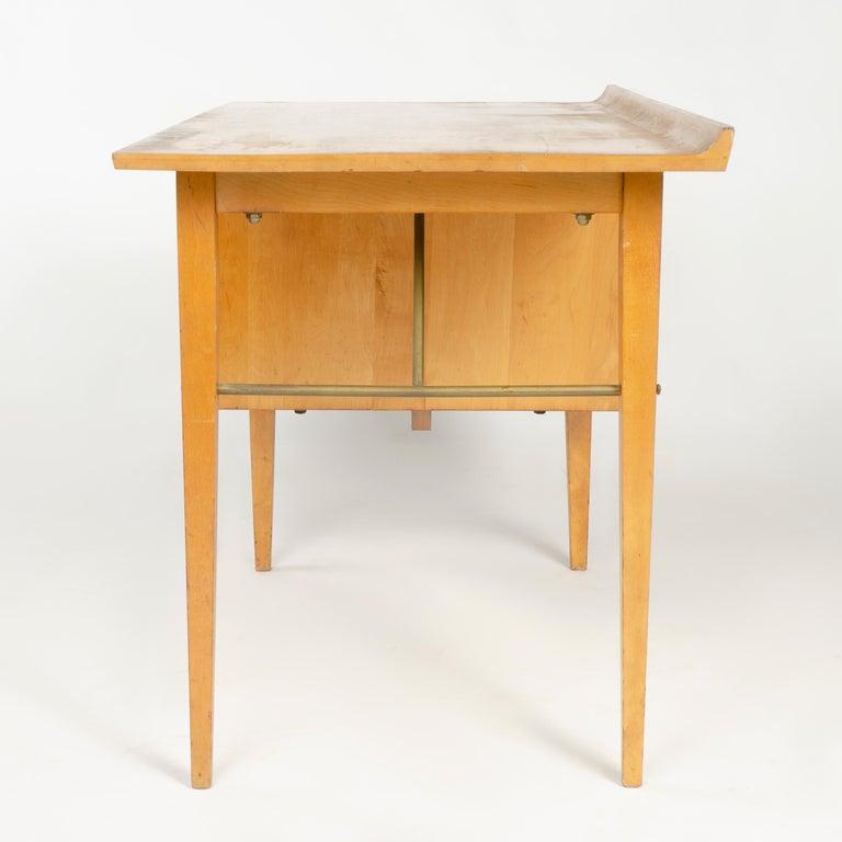 Mid-Century Modern 1950s Birch Desk by Milo Baughman for Thayer Coggin