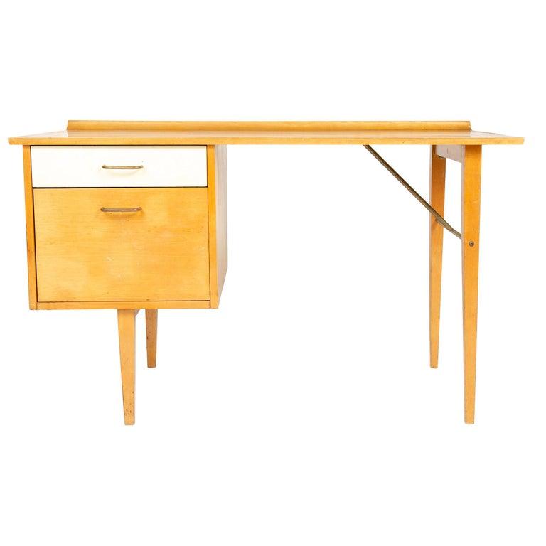 1950s Birch Desk by Milo Baughman for Thayer Coggin