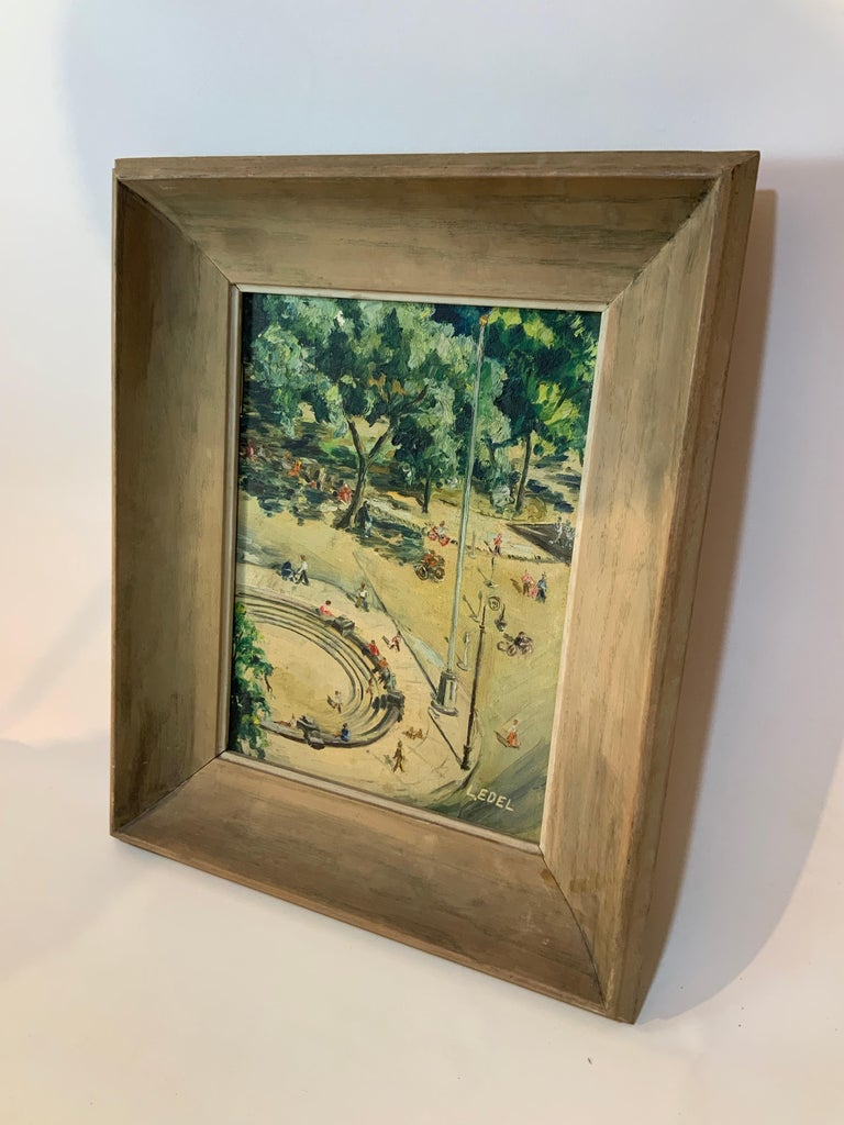 American 1950s Bird's Eye View of Washington Square Park Painting For Sale