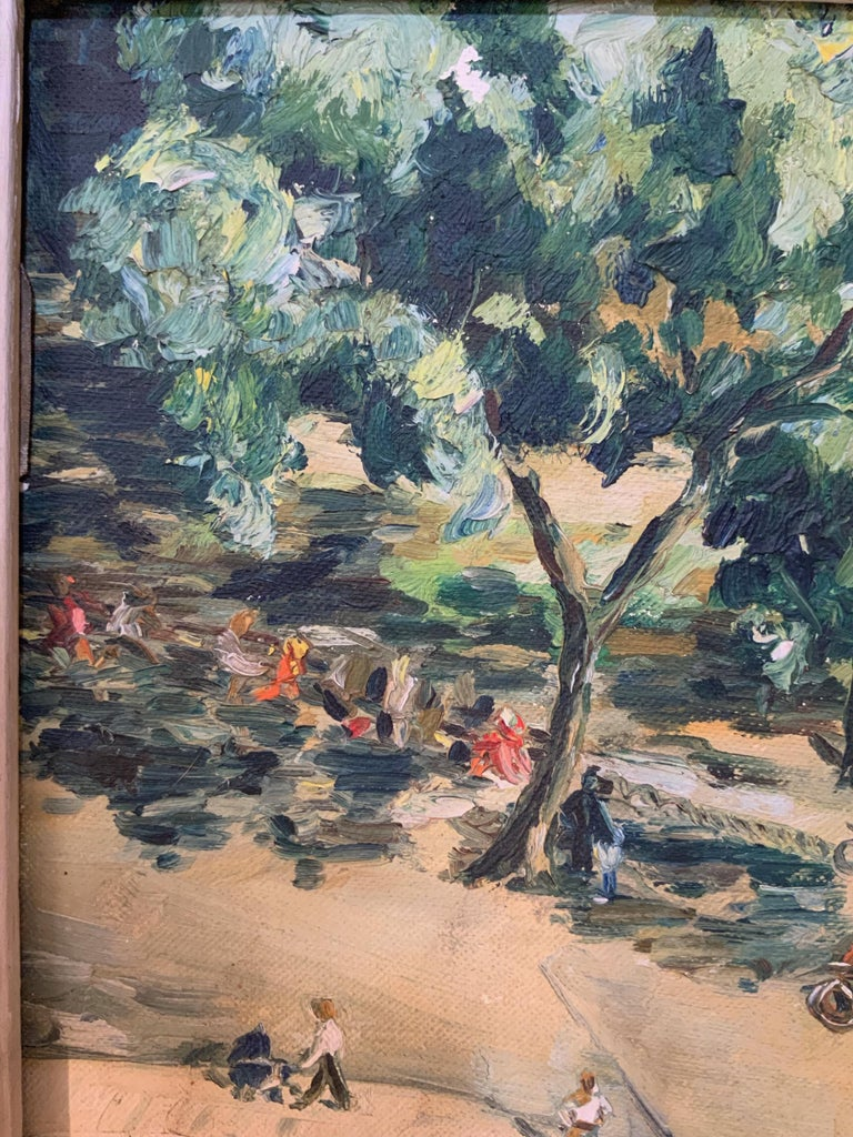 Canvas 1950s Bird's Eye View of Washington Square Park Painting For Sale