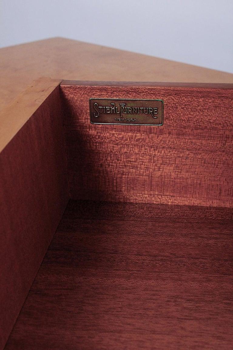 1950s Birdseye Maple Desk by Andrew Szoeke For Sale 5