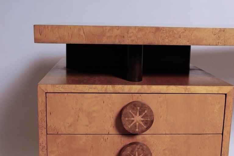 1950s Birdseye Maple Desk by Andrew Szoeke For Sale 2
