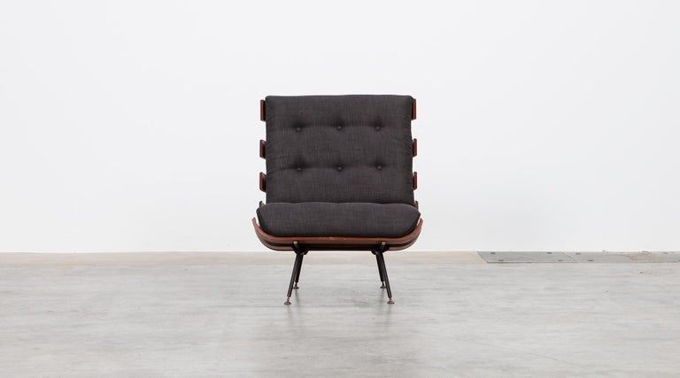 1950s Black and Brown Lounge Chair by Martin Eisler and Carlo Hauner For Sale 1