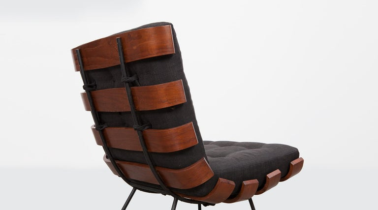1950s Black and Brown Lounge Chair by Martin Eisler and Carlo Hauner For Sale 2