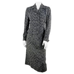 1950s Black and Grey Flecked Suit
